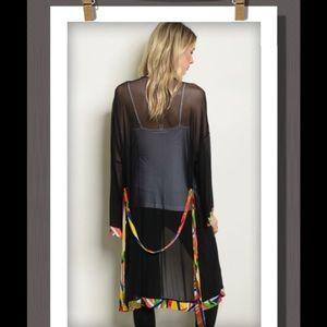 Black Sheer Kimono ☪